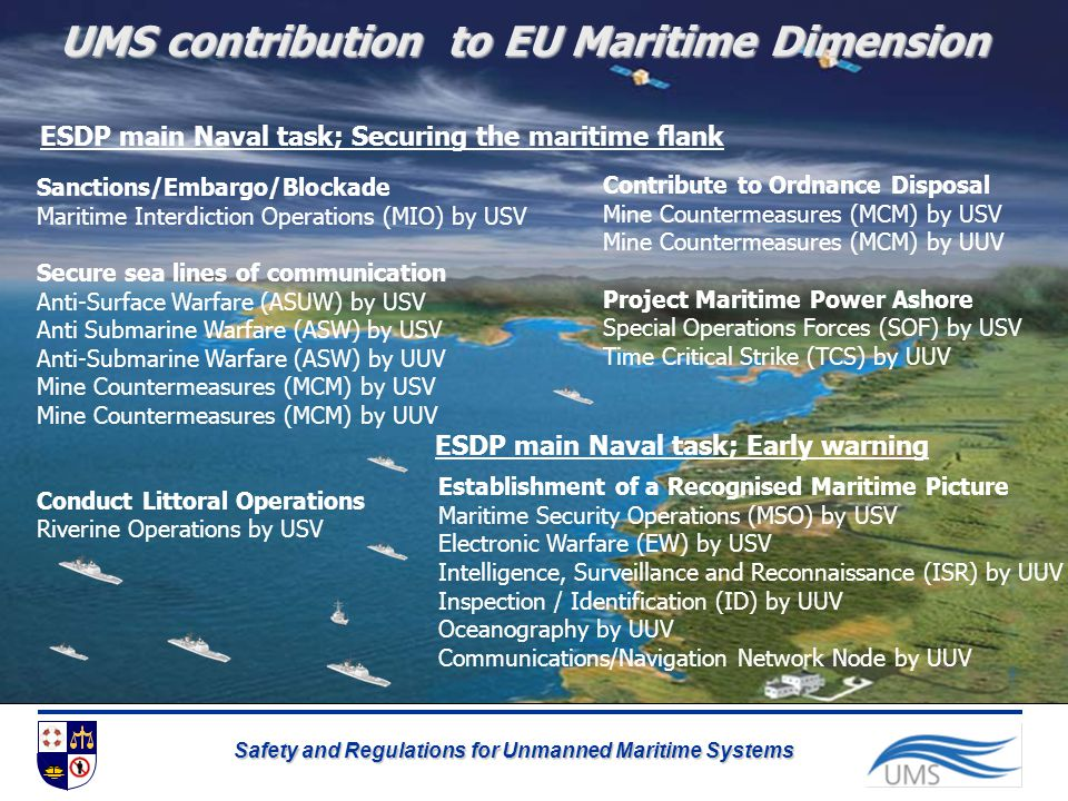 UMS contribution to EU Maritime Dimension