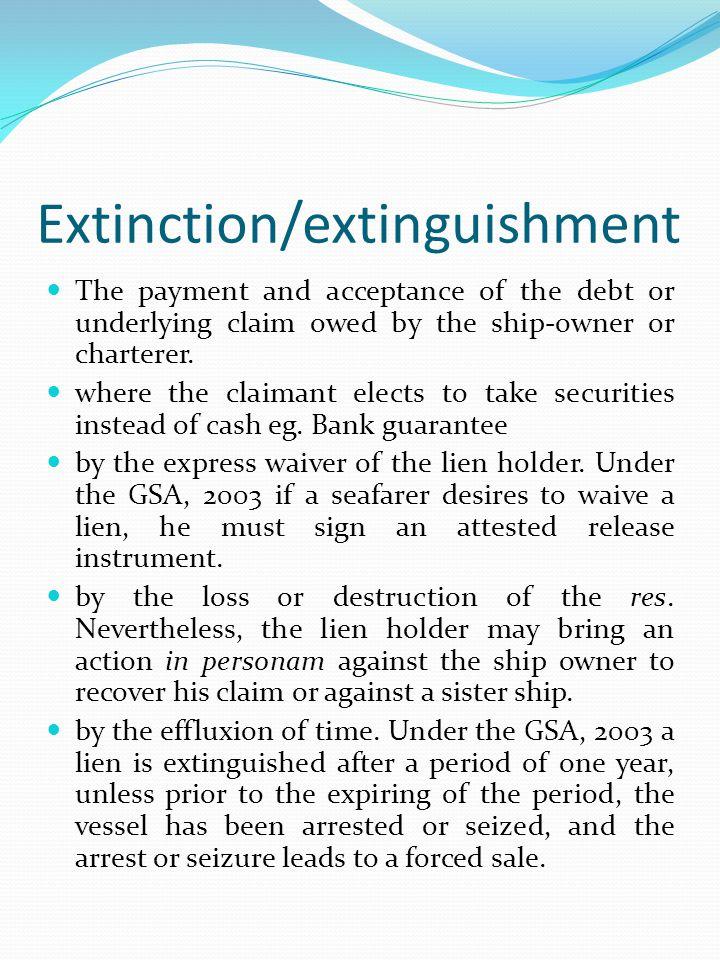 Extinction/extinguishment