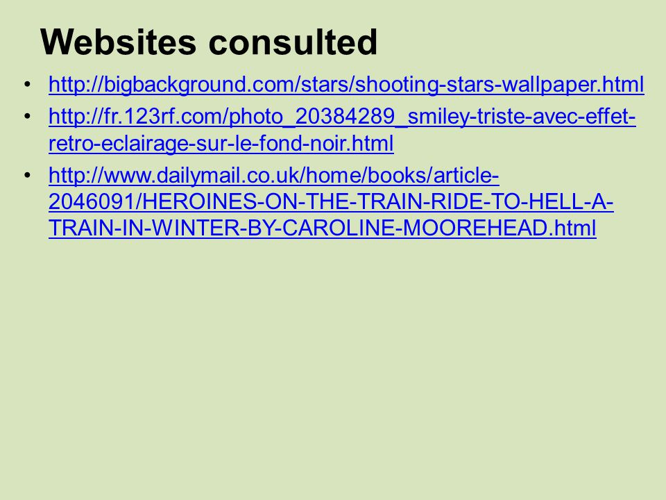 Websites consulted http://bigbackground.com/stars/shooting-stars-wallpaper.html.