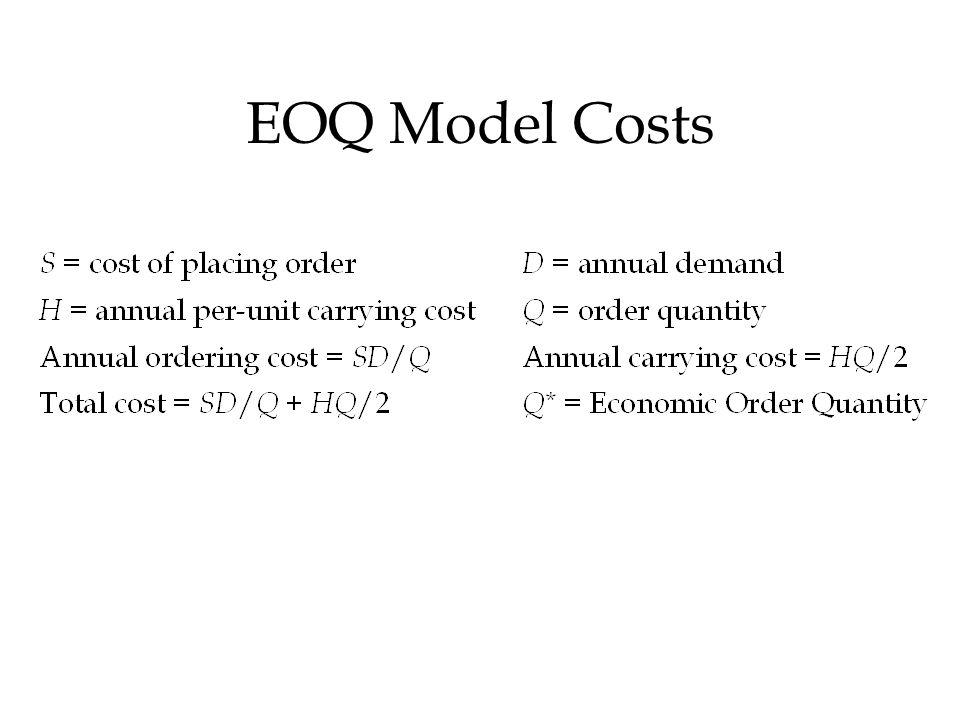 EOQ Model Costs
