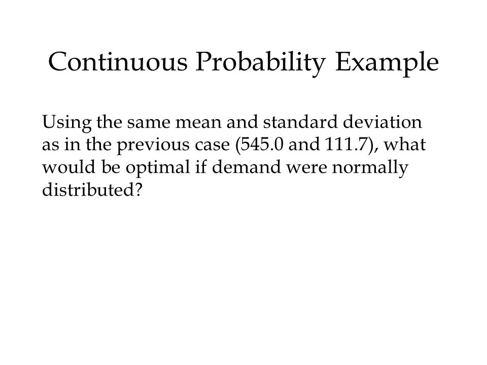 Continuous Probability Example