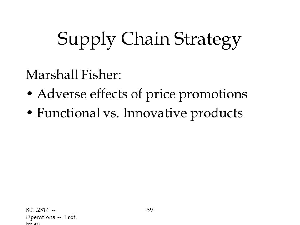 Supply Chain Strategy Marshall Fisher: