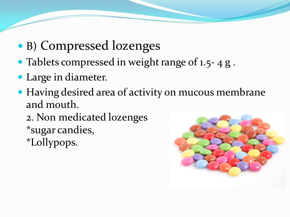 B) Compressed lozenges