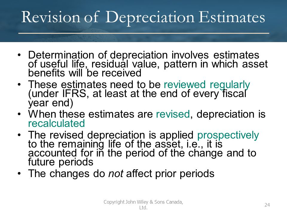Revision of Depreciation Estimates
