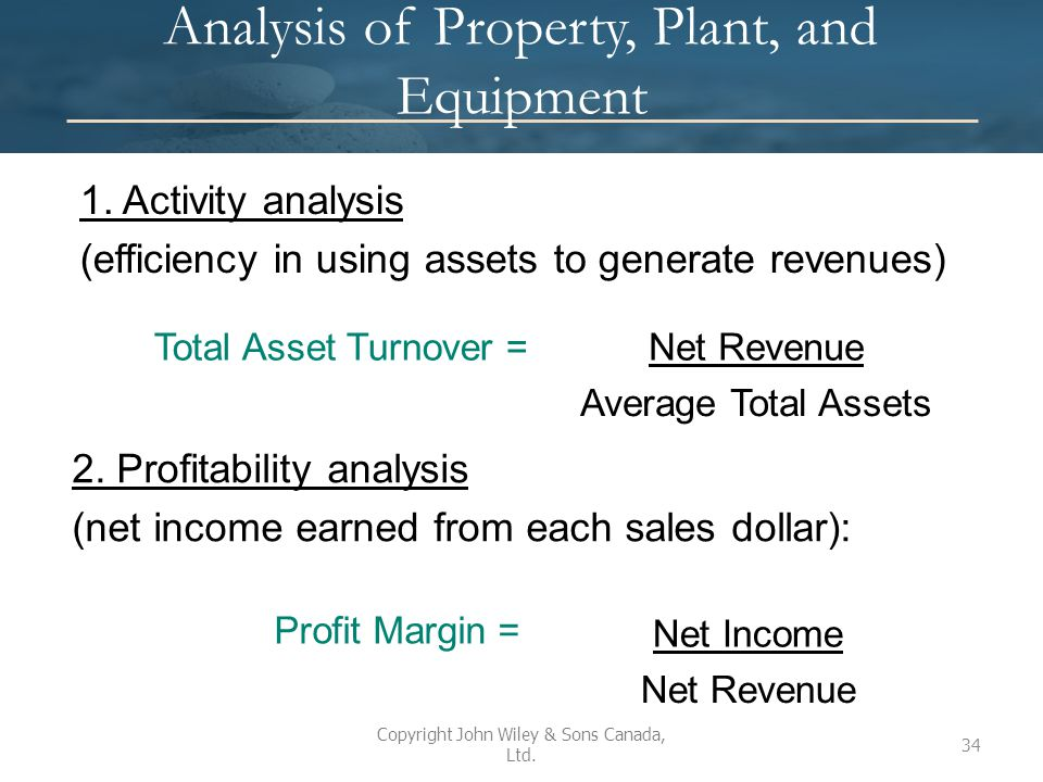 Analysis of Property, Plant, and Equipment