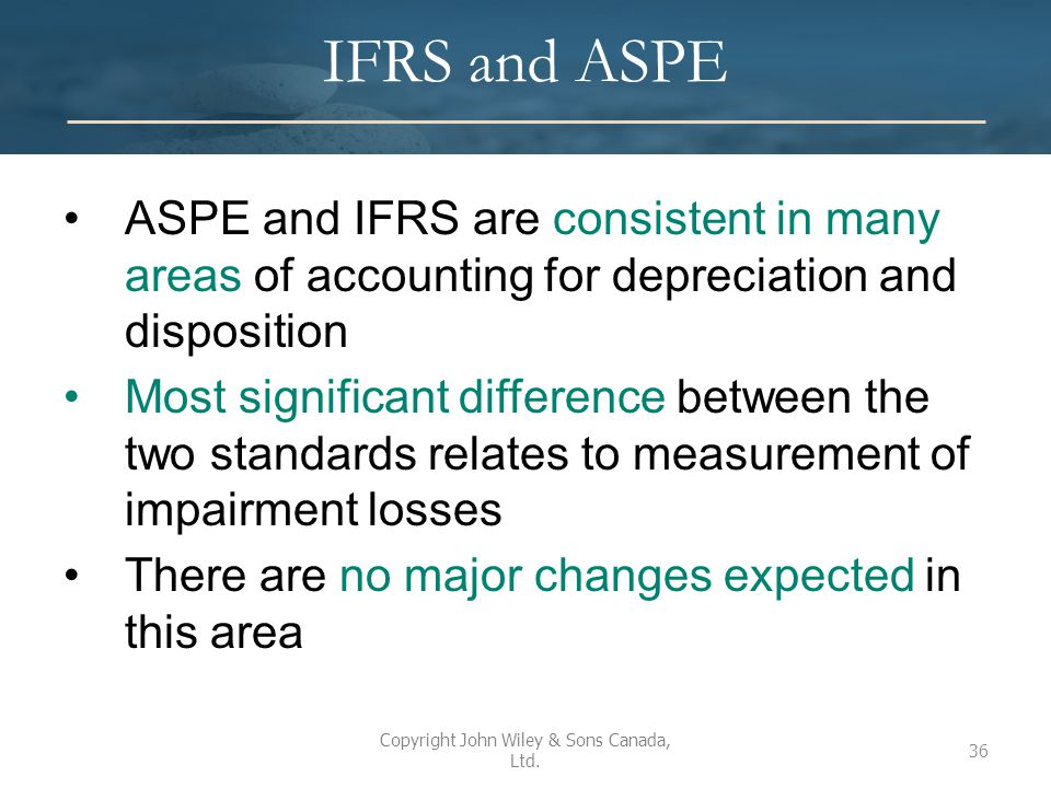 ifrs vs aspe essay Receive a high-level comparison of accounting standards for private enterprises (aspe) and international financial reporting standards (ifrs), covering significant recognition and measurement differences only.