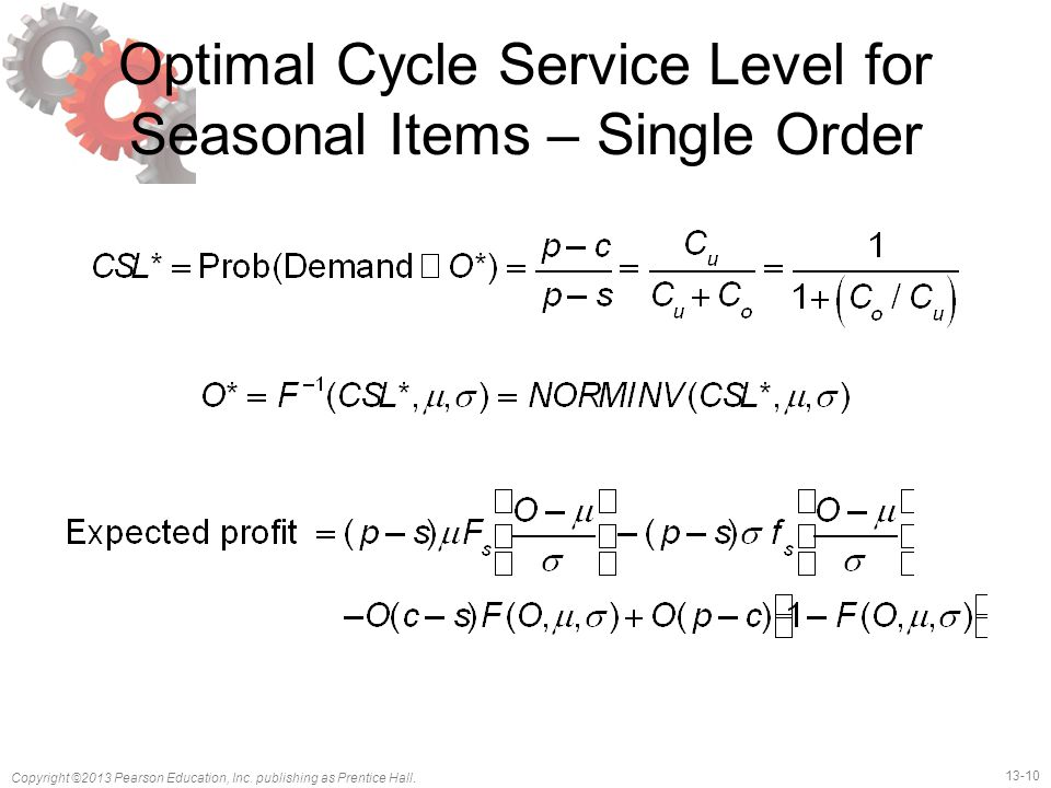 Optimal Cycle Service Level for Seasonal Items – Single Order