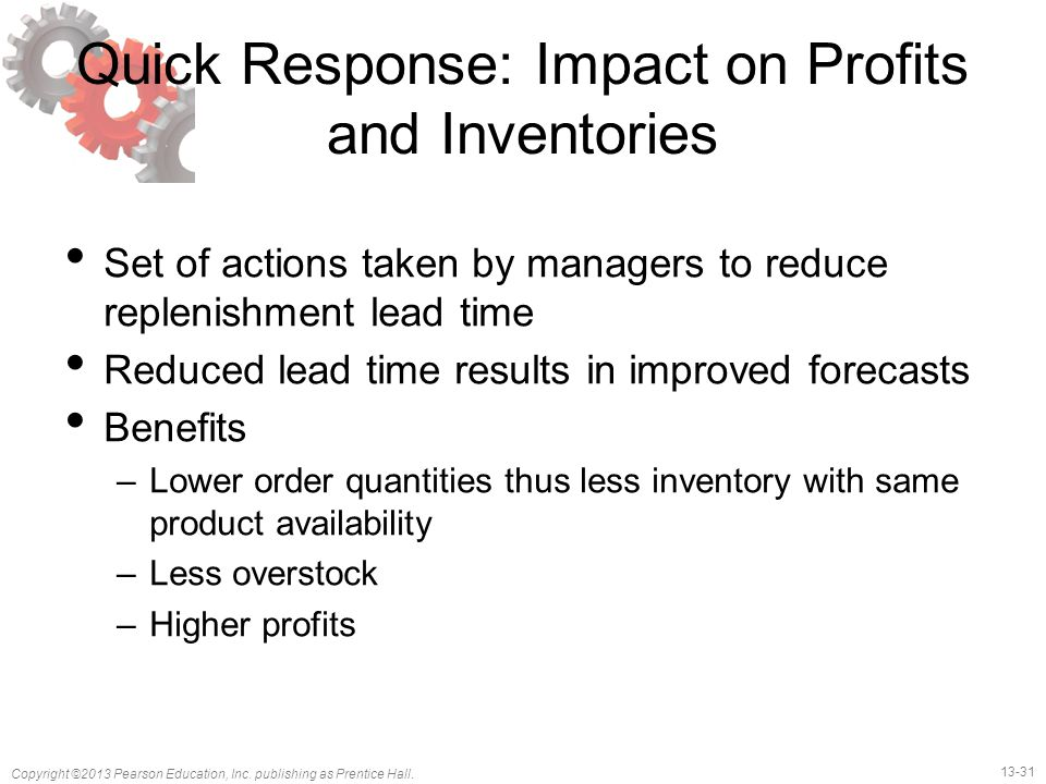 Quick Response: Impact on Profits and Inventories