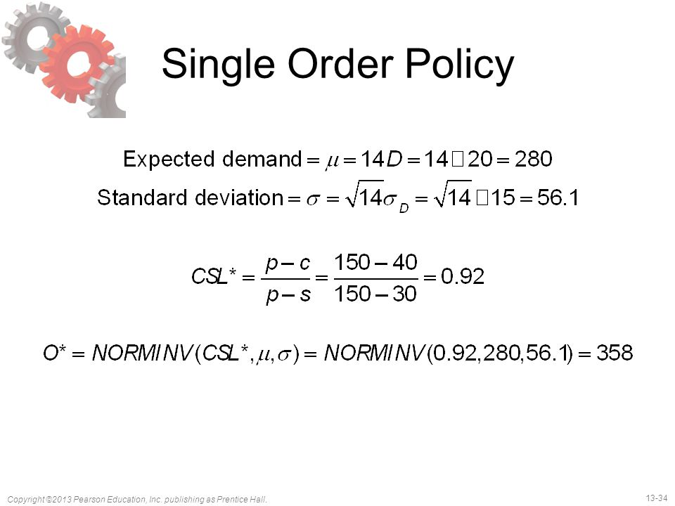 Single Order Policy