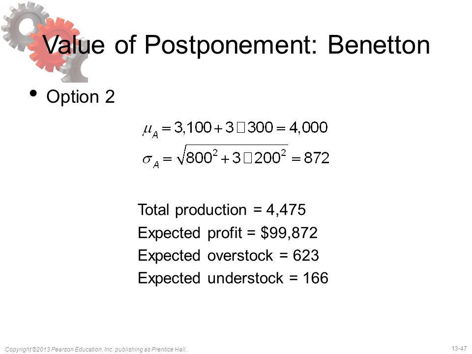 Value of Postponement: Benetton