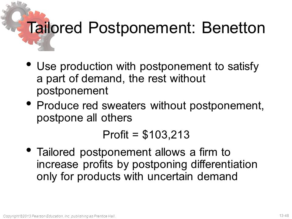 Tailored Postponement: Benetton