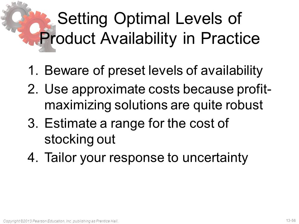 Setting Optimal Levels of Product Availability in Practice