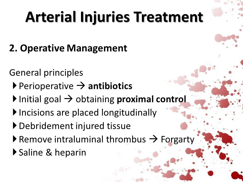 Arterial Injuries Treatment