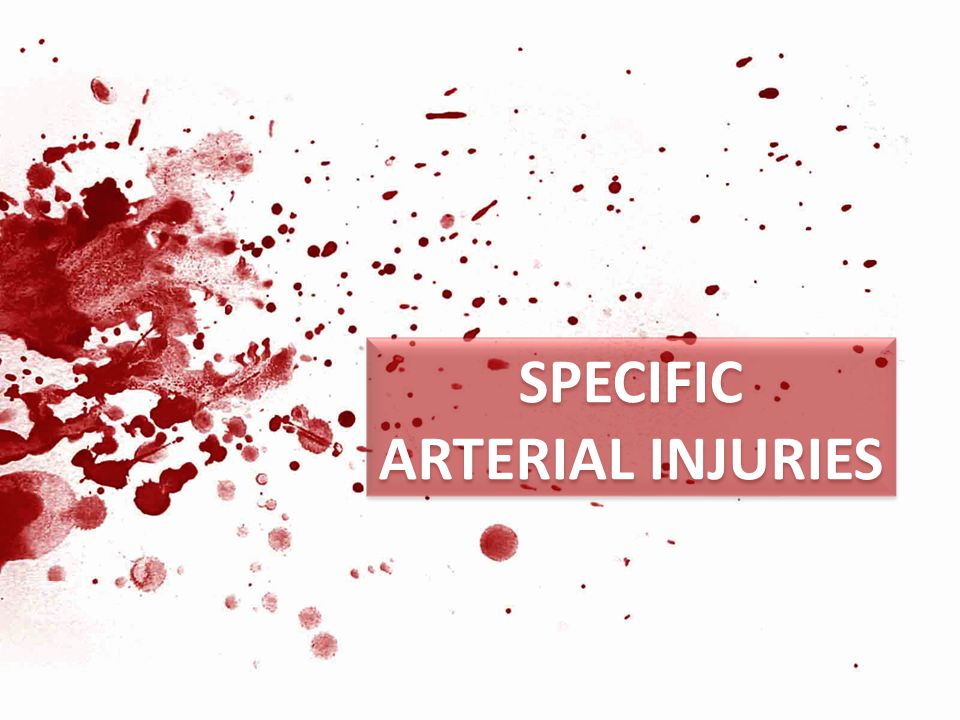 Specific artErial injuries