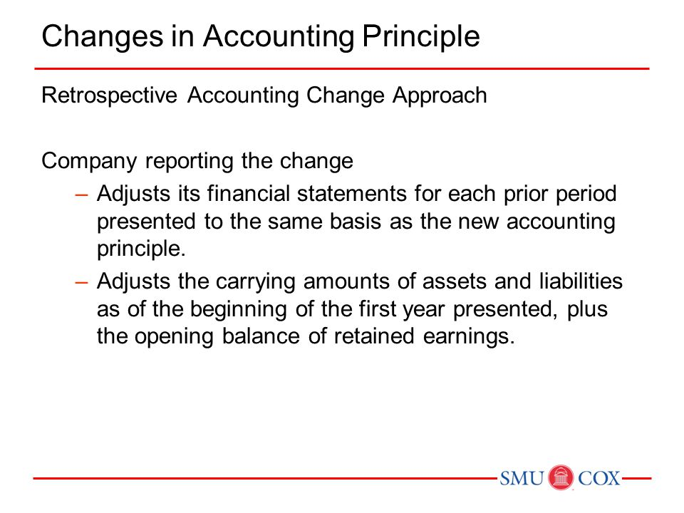 Changes in Accounting Principle
