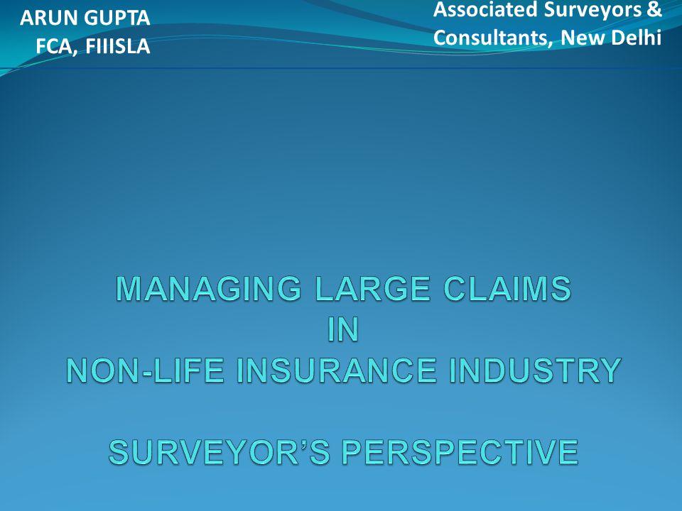 ARUN GUPTA FCA, FIIISLA. Associated Surveyors & Consultants, New Delhi.