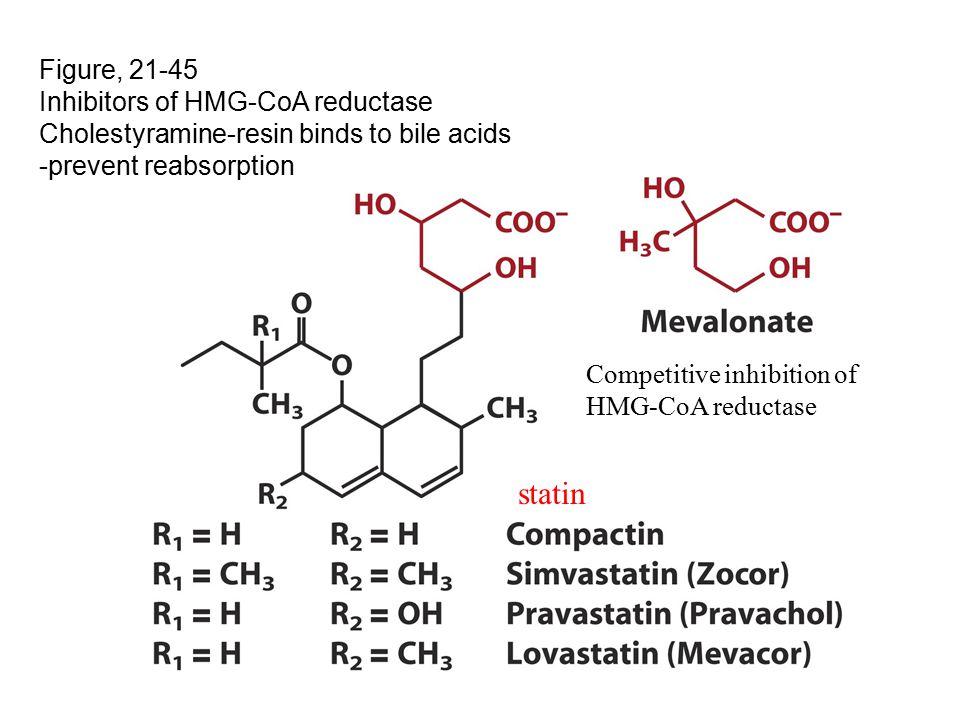 statin Figure, 21-45 Inhibitors of HMG-CoA reductase