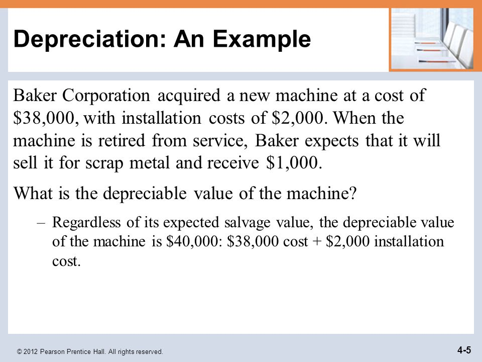 Depreciation: An Example