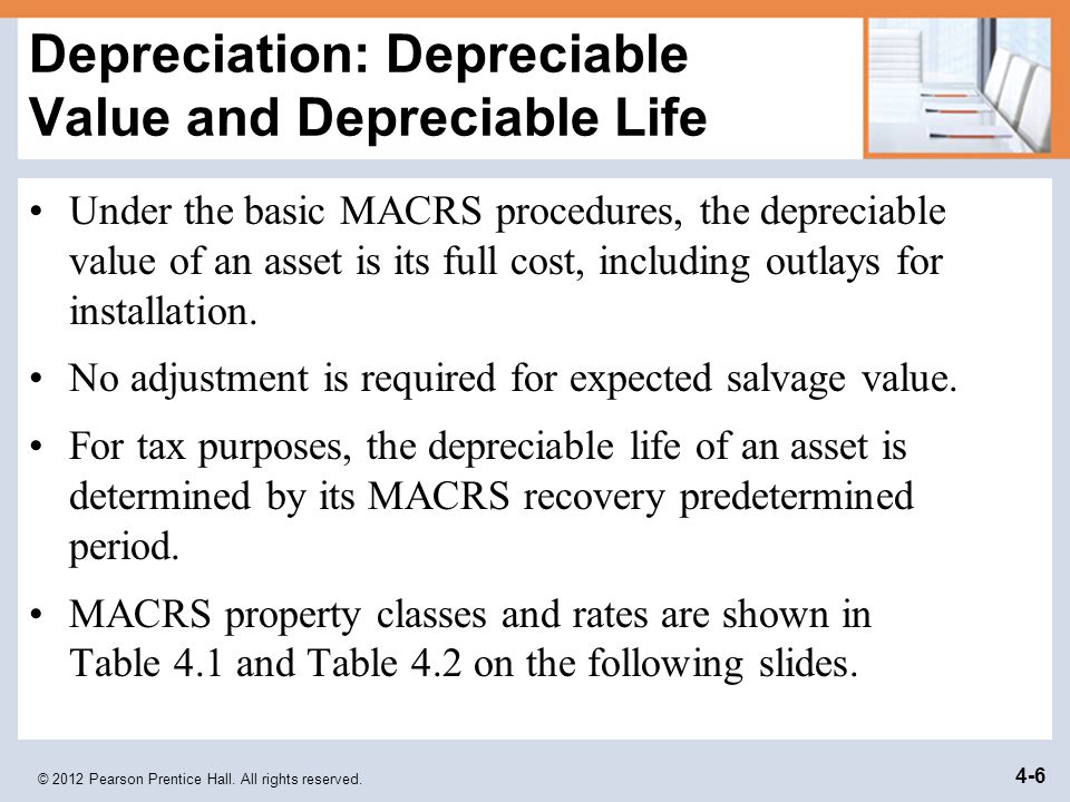 Depreciation: Depreciable Value and Depreciable Life
