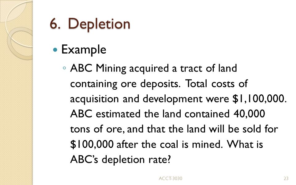 6. Depletion Example.
