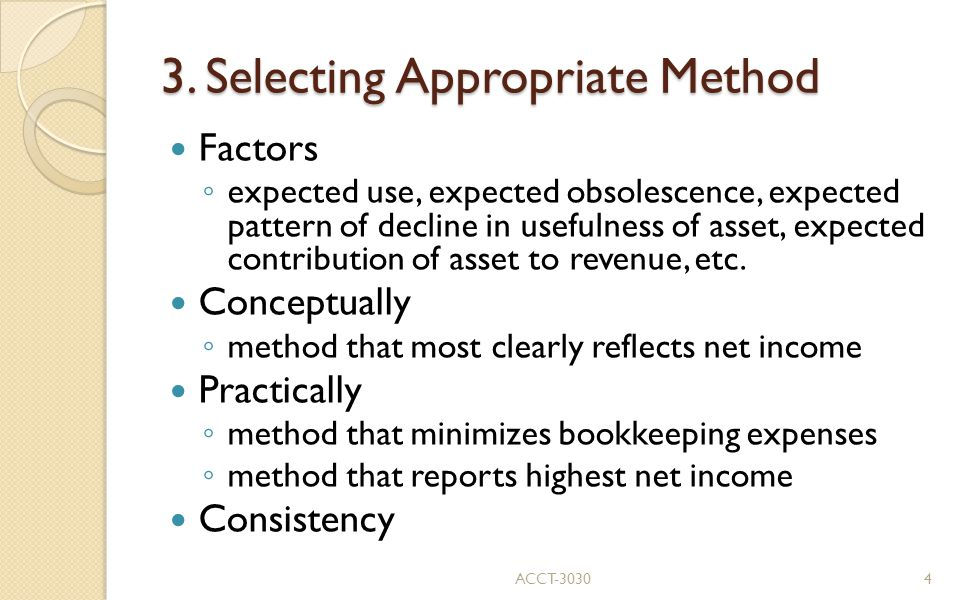 3. Selecting Appropriate Method