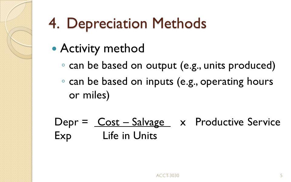 4. Depreciation Methods Activity method
