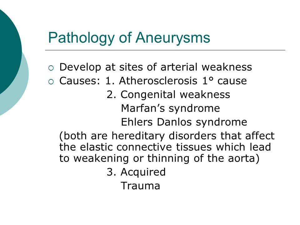 Pathology of Aneurysms