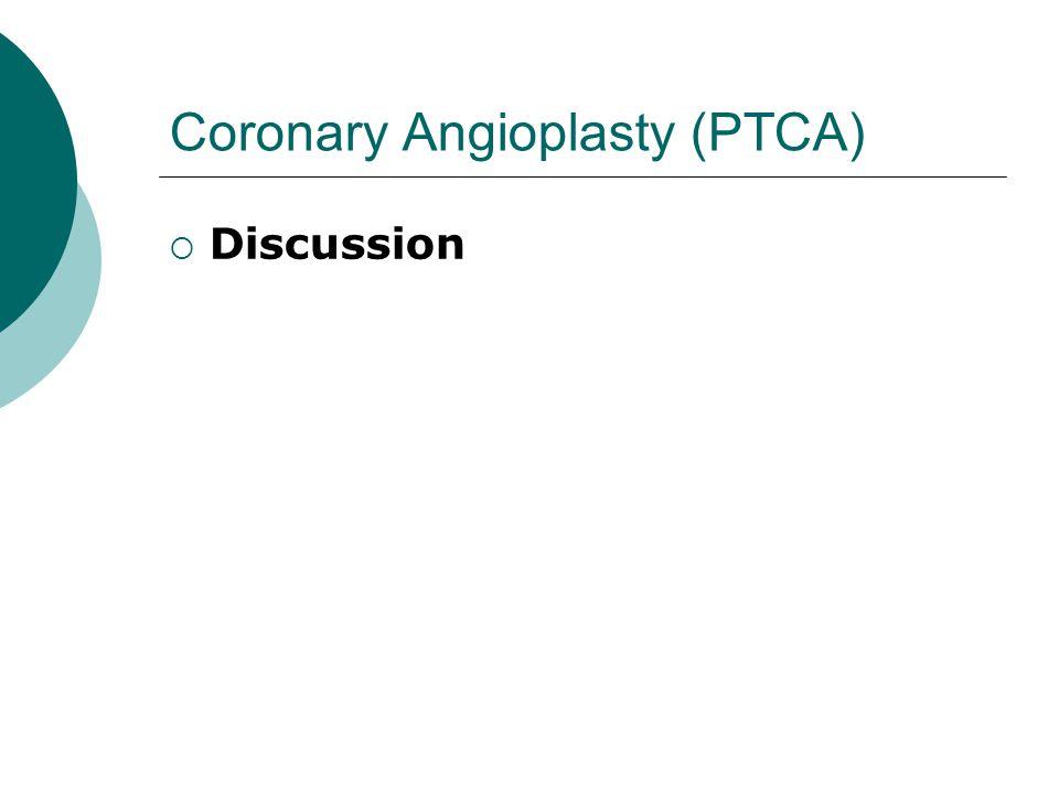 Coronary Angioplasty (PTCA)
