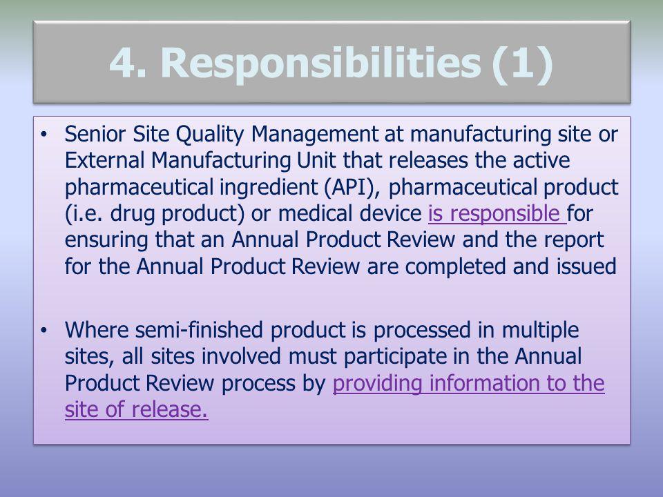 4. Responsibilities (1)