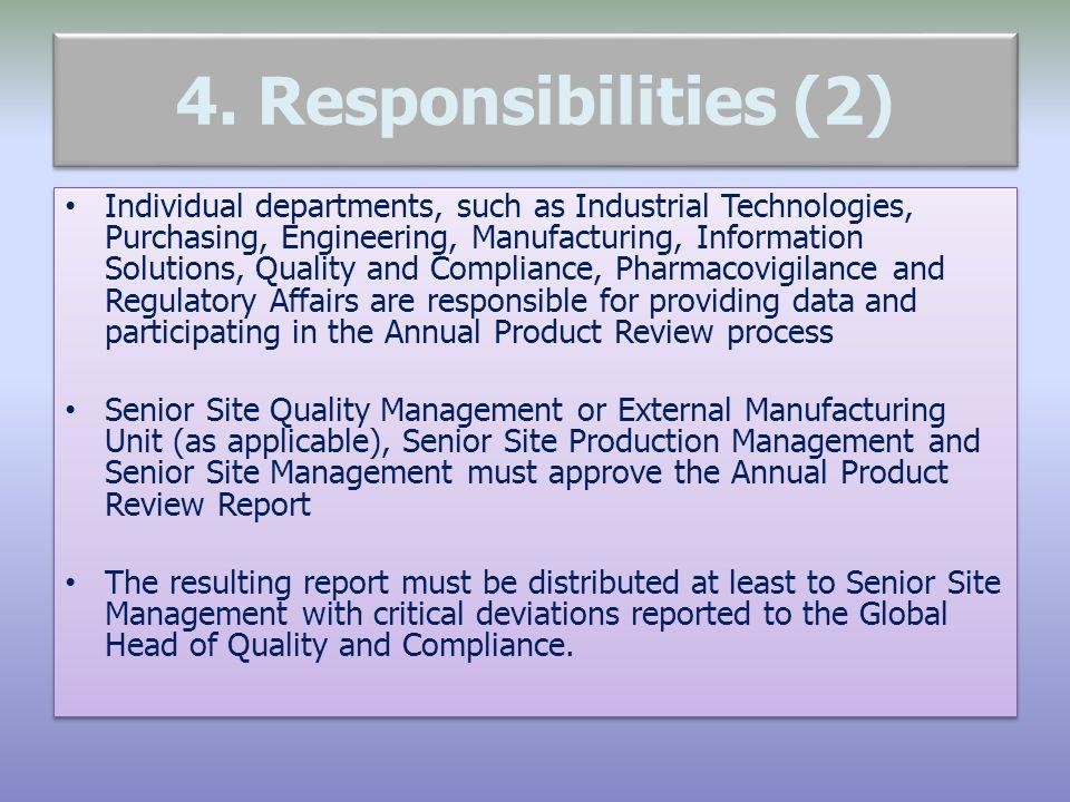 4. Responsibilities (2)