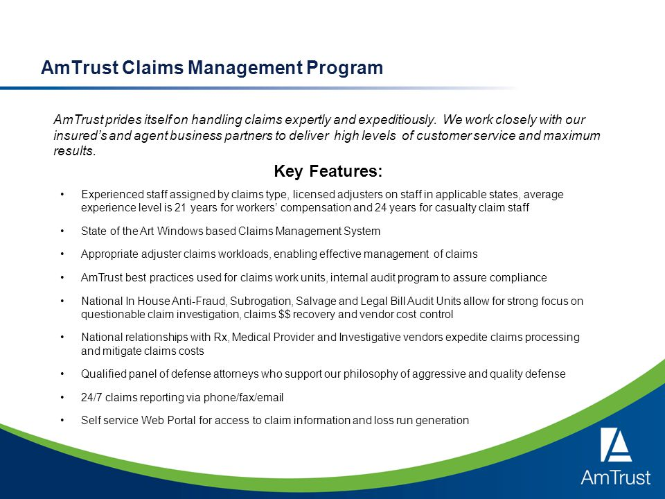 AmTrust Claims Management Program
