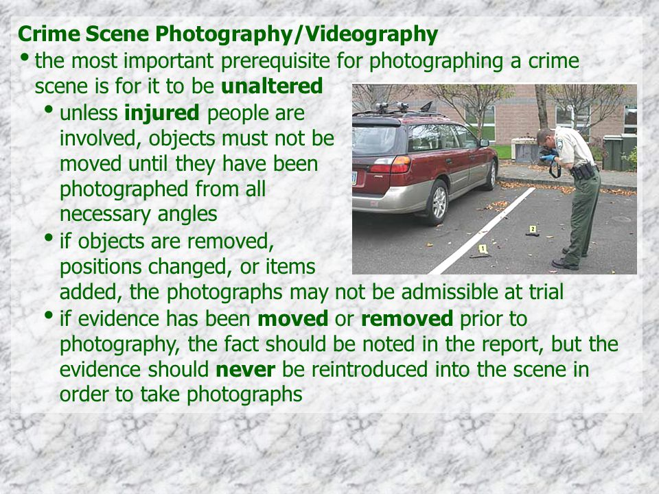 Crime Scene Photography/Videography