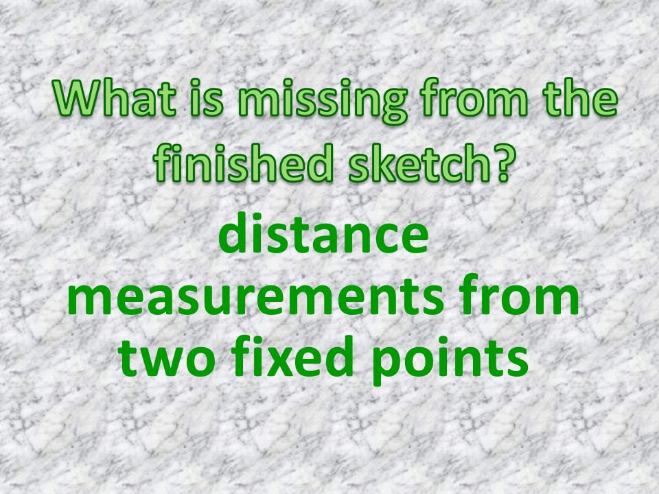 distance measurements from two fixed points