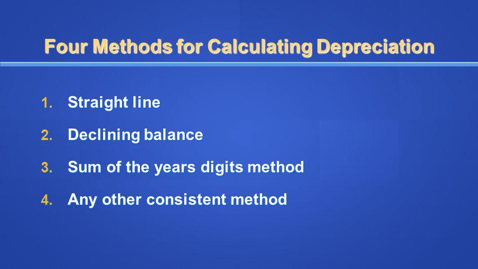 Four Methods for Calculating Depreciation