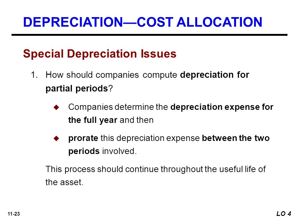 DEPRECIATION—COST ALLOCATION