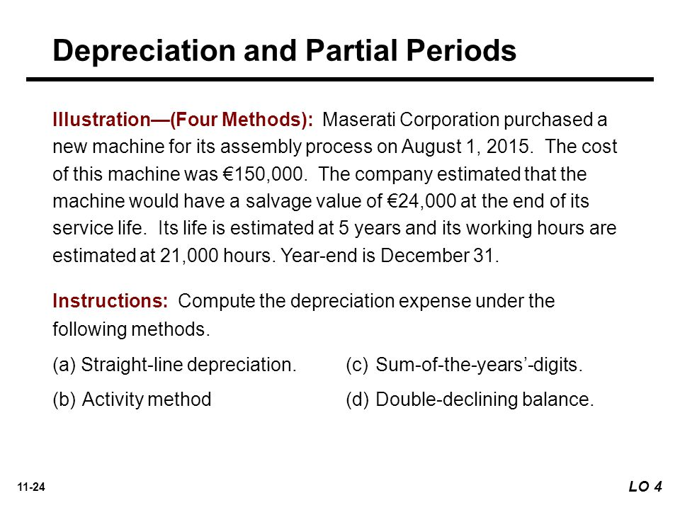 Depreciation and Partial Periods