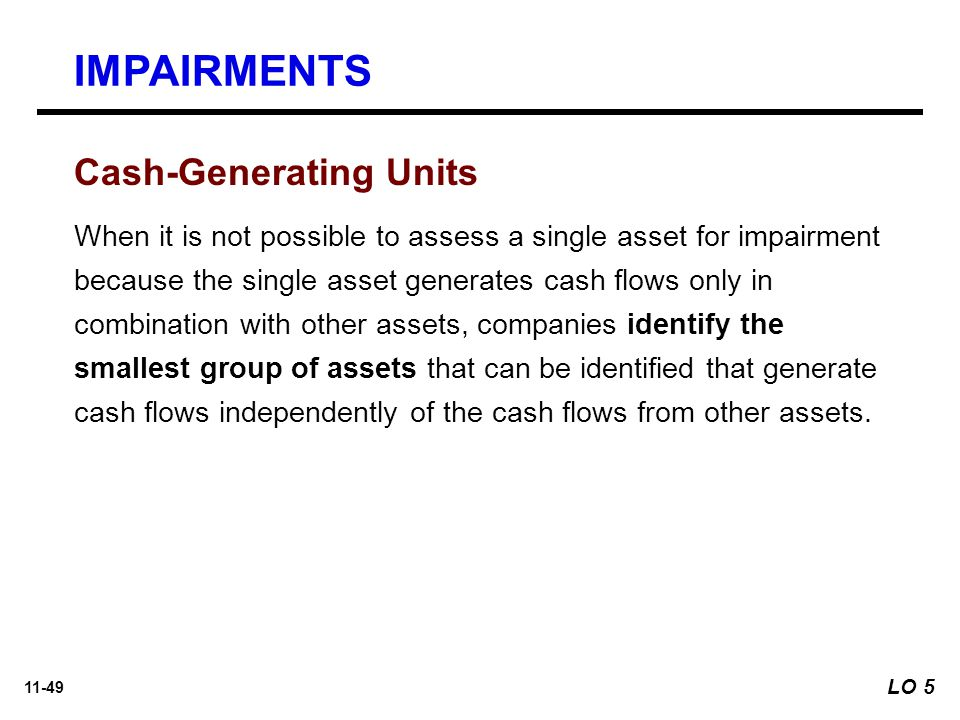 IMPAIRMENTS Cash-Generating Units
