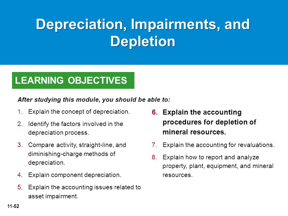 Depreciation, Impairments, and Depletion