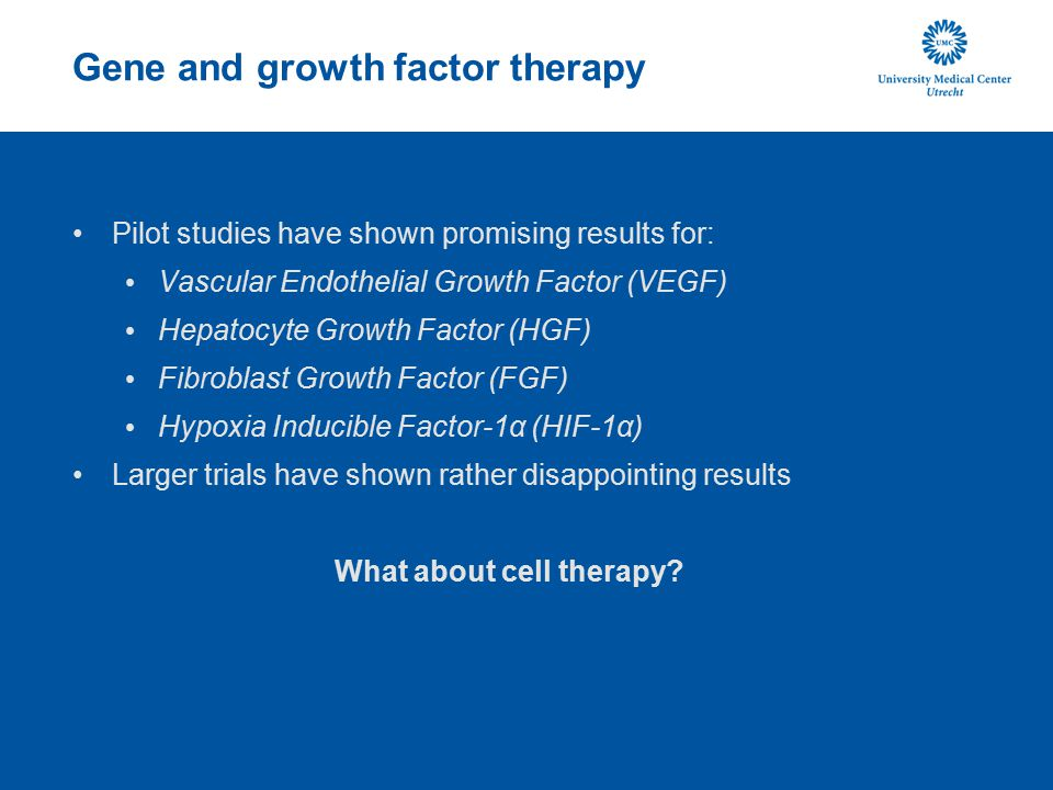Gene and growth factor therapy