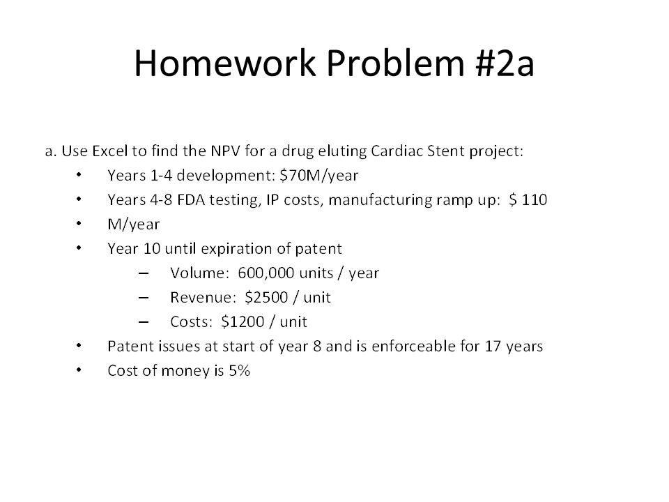 Homework Problem #2a