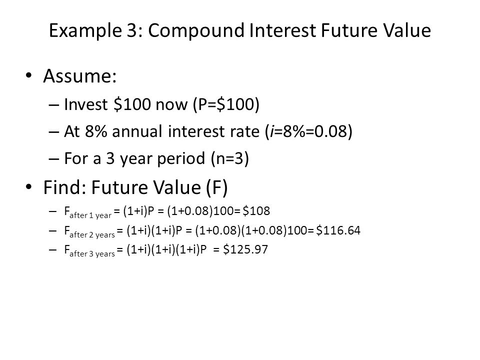 Example 3: Compound Interest Future Value