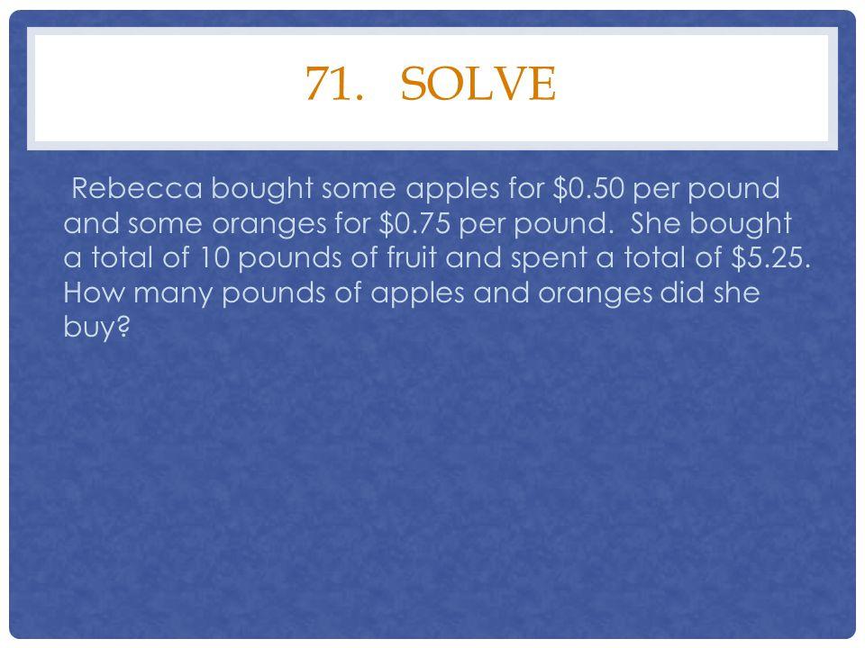 71. solve