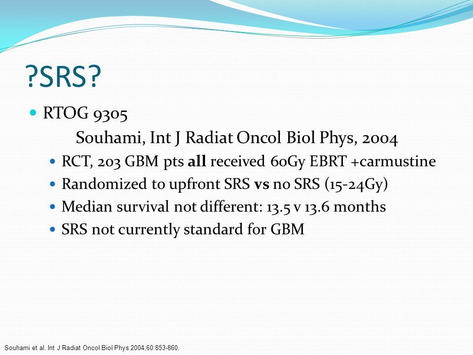 SRS RTOG 9305 Souhami, Int J Radiat Oncol Biol Phys, 2004