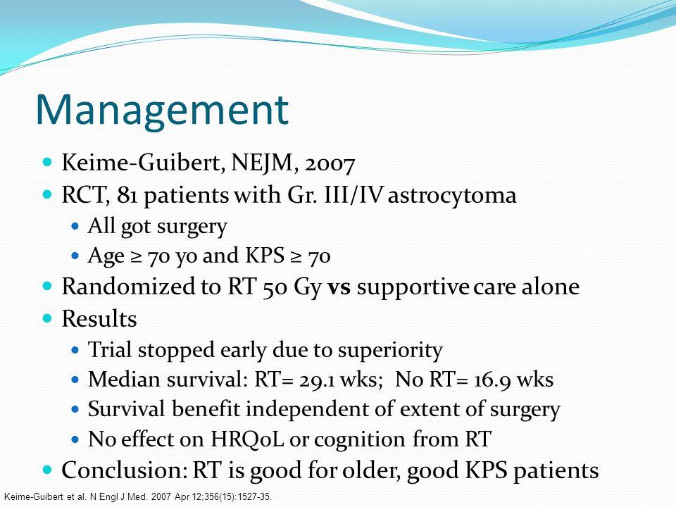 Management Keime-Guibert, NEJM, 2007