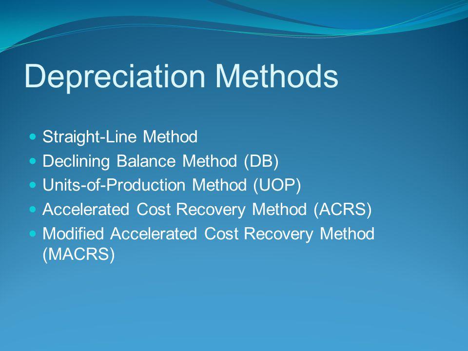 Depreciation Methods Straight-Line Method
