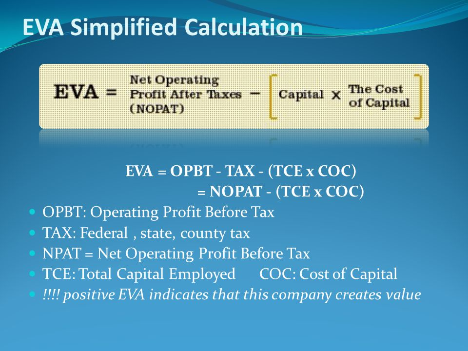 EVA Simplified Calculation