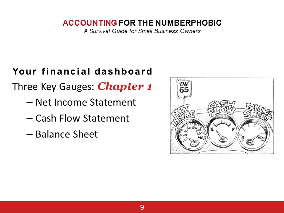Three Key Gauges: Chapter 1 Net Income Statement Cash Flow Statement