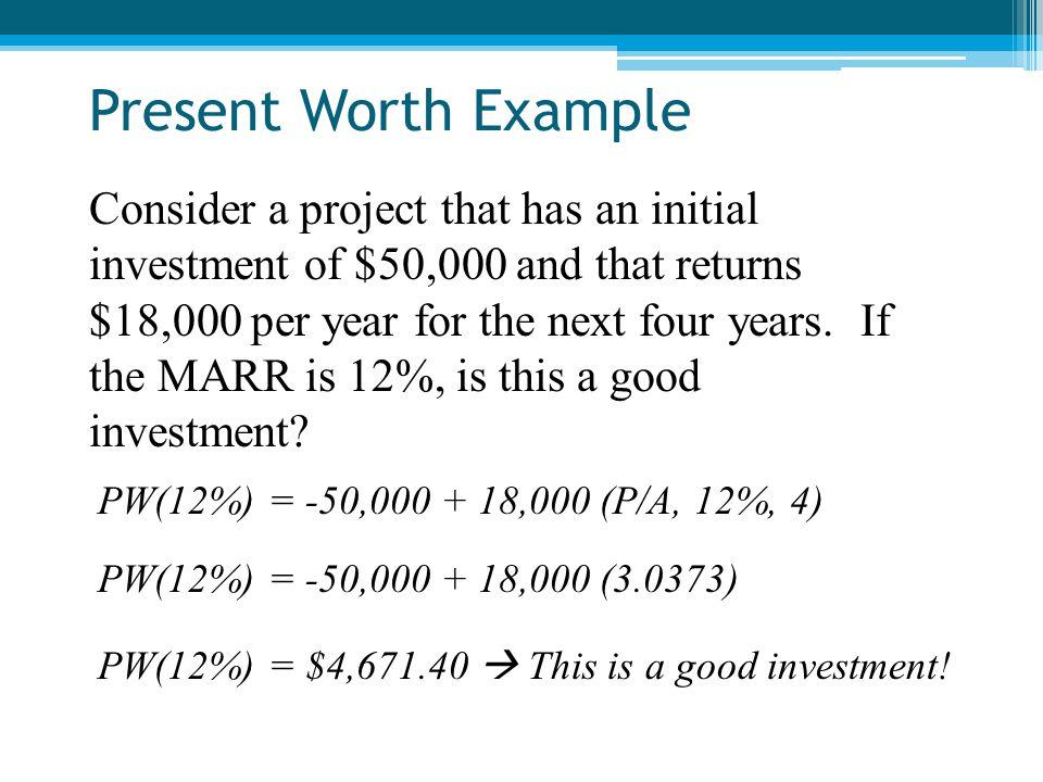 Present Worth Example