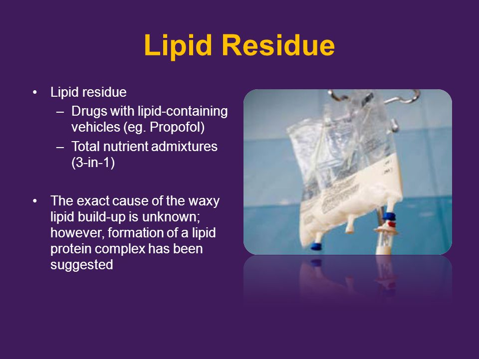 Lipid Residue Lipid residue
