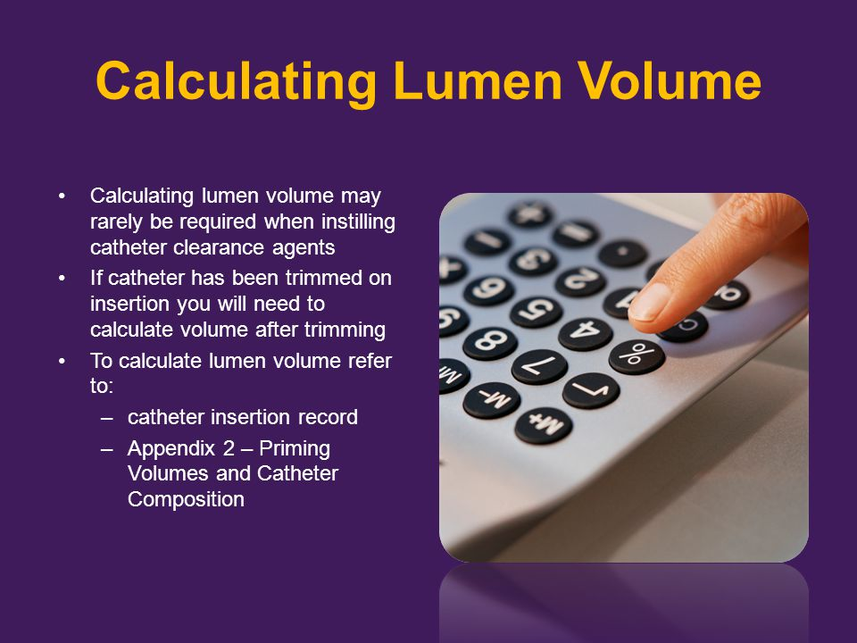 Calculating Lumen Volume